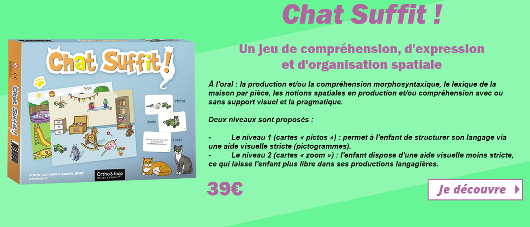Chat Suffit ! Ortho & Logo