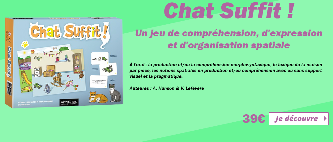 Chat suffit ! d'Ortho & Logo