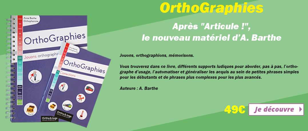 Orthographies d'Ortho & Logo