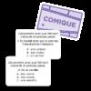 """Les participes passés à l'Affiche - Cartes """"Comique"""""""