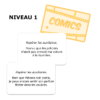 """Les participes passés à l'Affiche - Cartes """"Comics"""""""
